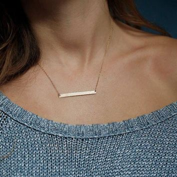 Chic Gold Bar Necklace