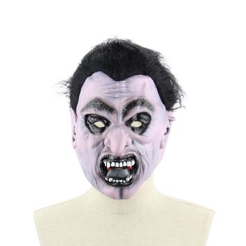 Latex Scary Vampire Mask Full Face Horror Toothy Zombie Masks with Elastic Strap for Halloween Masquerade Costume Party Supplies