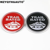 3D Car Sticker Trail Rated 4X4 3D Emblem Badge For Jeep Wrangler Patriot Grand Cherokee Trunk Logo Auto Decal Decoration