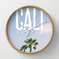 CALI FORNIA Wall Clock by Thecrazythewzrd | Society6