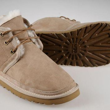 LFMON UGG 3236 Suede Men Fashion Casual Wool Winter Snow Boots Sand