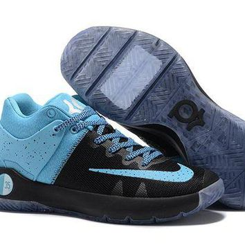 DCCKIJ2 Nike Men's Durant Zoom KD 5 Basketball Shoes Black Blue