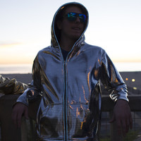 Light Up Electro Hoodie - Silver