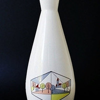 Tom Arnold Retro Oil Bottle Vase, T G Green Co Ltd, Church Gresely England, Circa 1950s-60s.