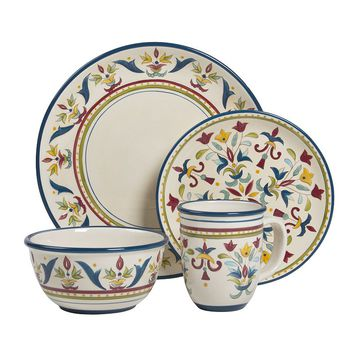 Bobby Flay Sevilla Blue 4-pc. Place Setting