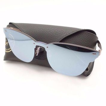 Kalete Ray Ban 3576 N 9039/1U Brushed Copper Violet Mirror 41mm Sunglasses Authentic