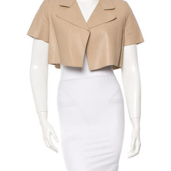 Marni Leather Bolero Jacket