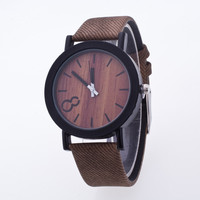 Original Wood Grain PU Watch