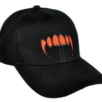 Bloody Red Vampire Fangs Hat Baseball Cap True Blood