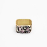 Marly Moretti Womens Stone Cluster Square Ring