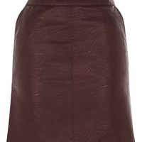PU Short Pencil Skirt