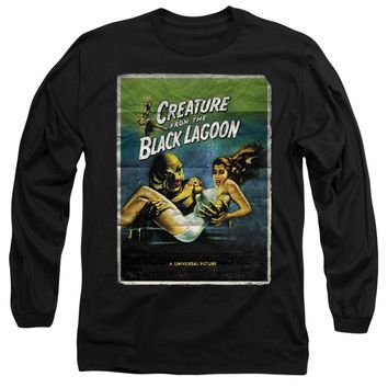 Creature from the Black Lagoon Long Sleeve T-Shirt Movie Poster Black