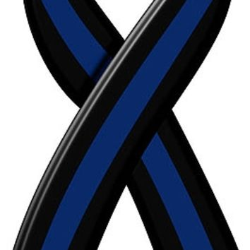 Thin Blue Line Ribbon Reflective Decal