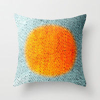 Fabric-like Orange Throw Pillow by Jensen Merrell Designs