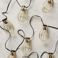 Caged Bulb String Lights by Anthropologie