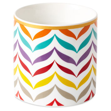 12 oz Chevron Candle, Cool Moss, Filled Candles