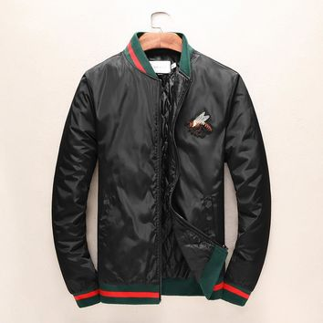 Gucci Women or Men Fashion Casual Embroidery Cardigan Jacket Coat
