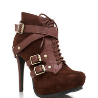 buckle-booties BLACK TOBACCO - GoJane.com