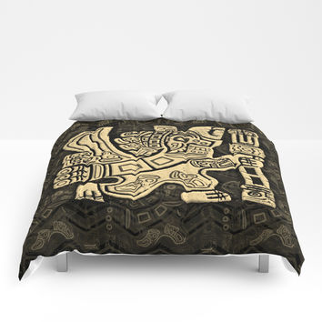 Aztec Eagle Warrior Comforters by bluedarkatlem