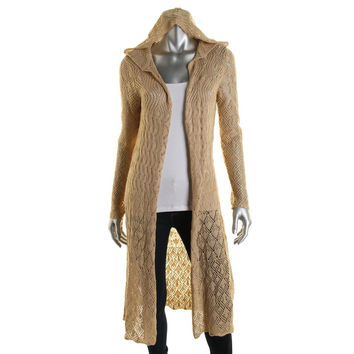 RD Style Womens Hooded Open Front Cardigan Sweater