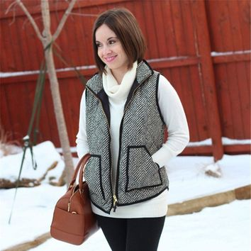 Herringbone Black and White Vest