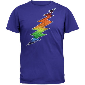 Grateful Dead - Lightning Bolt Blue Adult T-Shirt