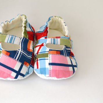 Madras Baby Girl Shoes, Baby Mary Jane Shoes, Toddler Mary Janes, Baby Ballet Flats, Easter Shoes, Preppy Baby