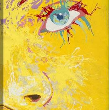 Eyes I Figurative Canvas Wall Art Print by Fatmir Gjevukaj