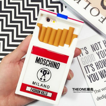 Moschino Cigaret Box Iphone Cases For Iphone6/6Plus