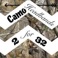 2 for 32 Any Realtree Camo headband,  headband camouflage
