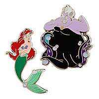 Ariel and Ursula Pin Set