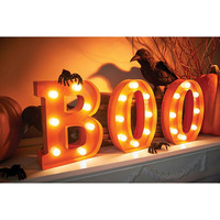 Marquee Boo Sign Halloween Decor