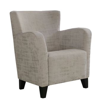 Accent Chair - Taupe Brushed Velvet Fabric