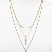 "AQUA Summer Necklaces 21-26.5"", Set of 3 