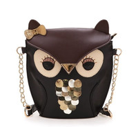 Women Candy Splicing Good Crossbody Owl Leather Cover Handbag Outdoor  7_S