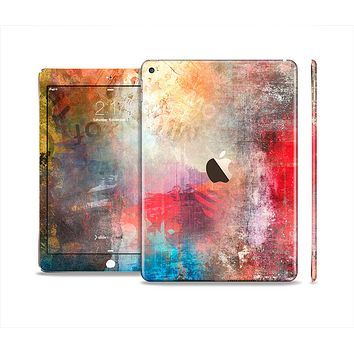 The Grungy Colorful Faded Paint Skin Set for the Apple iPad Air 2