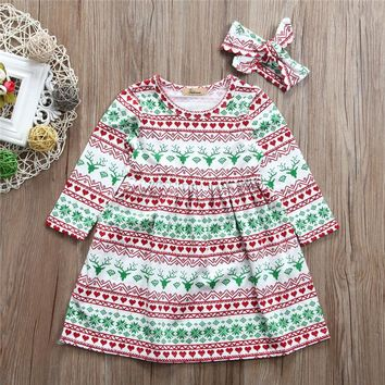 Christmas Dress with headband