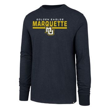 Mens Marquette Golden Eagles End Line Long Sleeve Club Tee