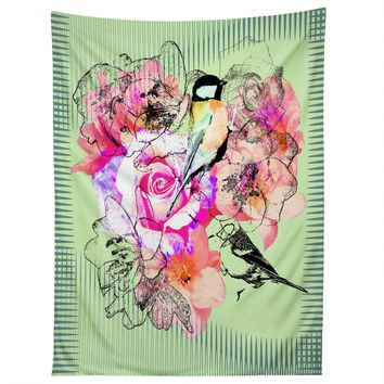 Bel Lefosse Design Birds And Flowers Tapestry