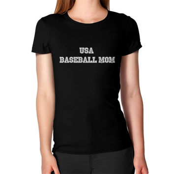 Usa baseball mom Women's T-Shirt