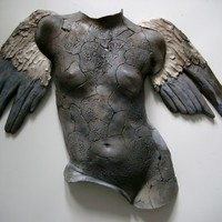 "Saatchi Online Artist: Anna keiller; Clay, 2013, Sculpture ""Blue Angel"""