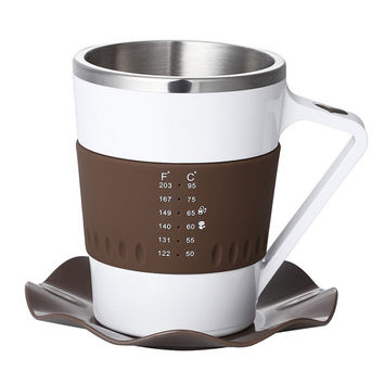 Coffee Mug With Real Time Temperature Display