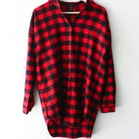 Plaid Flannel Boyfriend Shirt