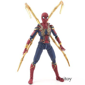 SH Figuarts Avengers Infinity War Toys Iron Spider Toy Spiderman PVC Action Figure Marvel Collectible Figurines Model Toy