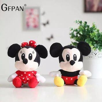 1pcs 20cm Minnie&Mickey Mouse Low Price Super Kawaii Soft Plush& Stuffed Animals Classical Toys Party Gift For Kids Baby Girl
