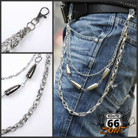 Projectile Metal Wallet Chain