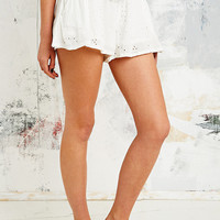 Free People Rayon Eyelet Embroidered Shorts in White - Urban Outfitters