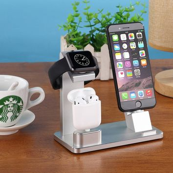 Muti-Charging Dock For Apple Watch iPhone X 8 7 6 AirPods iPad Station Holder
