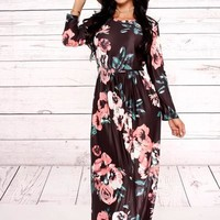 Long Sleeve Floral Maxi