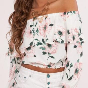 Mina Off the Shoulder Ruffle Top